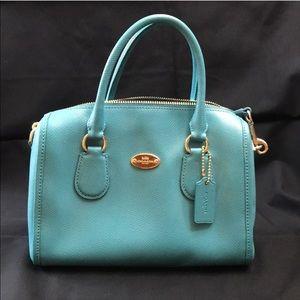 NWOT Blue Crossbody top handle bag